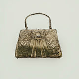 Vintage bag on a light background Royalty Free Stock Photos