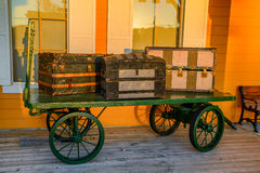 Vintage Baggage Cart Stock Image