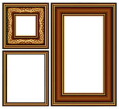 Vintage baguette frame. Tree baguette frame, this illustration may be useful as designer work royalty free illustration