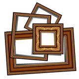 Vintage baguette frames. On the white background, this illustration may be useful as designer work Stock Photography
