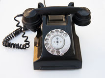Vintage Bakerlite Telephone - Black. An still life of an old telephone Stock Photo