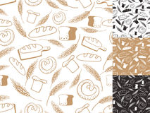 Vintage Bakery background,Seamless pattern.Hand Stock Photos