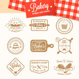 Vintage bakery badges, labels and logos Royalty Free Stock Image