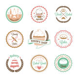 Vintage bakery badges, labels and logos Stock Image