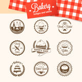 Vintage bakery badges, labels and logos Royalty Free Stock Photography