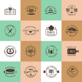 Vintage bakery badges, labels and logos Stock Photography