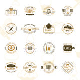 Vintage bakery badges, labels and logos Royalty Free Stock Photo