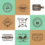 Vintage bakery badges, labels and logos. Vector illustration for your design stock illustration