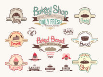 Vintage bakery badges and labels Stock Images
