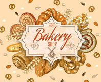 Vintage bakery banner Royalty Free Stock Image
