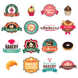 Vintage bakery collection of icons and tags Royalty Free Stock Photo