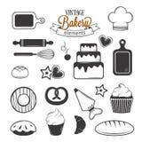 Vintage bakery elements Stock Images