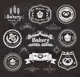 Vintage bakery frames. Royalty Free Stock Image
