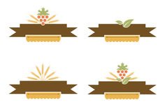 Vintage Bakery and Harvest Banner Set Royalty Free Stock Photography