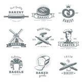 Vintage Bakery Label Set Stock Images