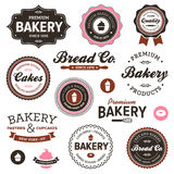 Vintage bakery labels Stock Photography