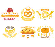 Vintage Bakery Labels Royalty Free Stock Images