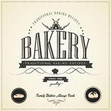 Vintage bakery labels, badges and design elements Stock Images