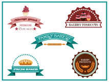Vintage bakery labels Royalty Free Stock Photography