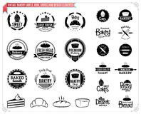 Vintage Bakery Labels Templates , Icons, Badges and Design Elements Royalty Free Stock Image
