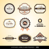 Vintage bakery logo labels and frames Royalty Free Stock Photo