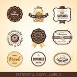 Vintage bakery logo labels and frames stock illustration