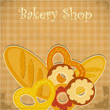 Vintage Bakery menu Stock Images