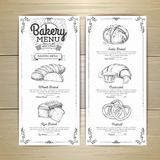 Vintage bakery menu design. Restaurant menu. Document template. Vintage bakery menu design. Restaurant menu Stock Photo