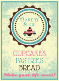 Vintage bakery poster Royalty Free Stock Images