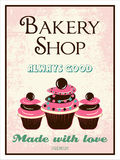 Vintage bakery poster Stock Photography