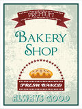 Vintage bakery poster Royalty Free Stock Photo