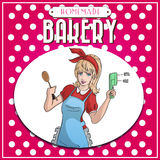 Vintage bakery poster Stock Photo