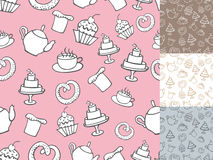 Vintage Bakery Seamless pattern,.Hand Royalty Free Stock Photos
