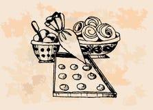 Vintage Baking Supplies Stock Photos