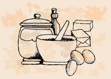 Vintage Baking Supplies Royalty Free Stock Image