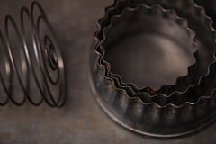 Vintage  Baking Tin cutters Royalty Free Stock Photography