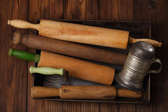 Vintage  Baking utensils Royalty Free Stock Photos