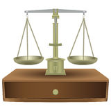 Vintage balance scales Stock Images