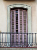Vintage balcony in Spain stock photo
