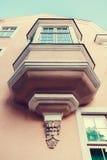 Vintage balcony  in Tallinn, Estonia. Royalty Free Stock Photo