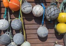 Vintage ball floats, Newfoundland Royalty Free Stock Photos