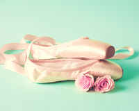 Vintage ballet shoes Stock Photography
