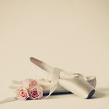 Vintage ballet shoes Royalty Free Stock Photo