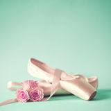 Vintage ballet shoes Stock Image