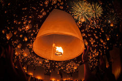 Vintage balloon in float lamp festival Stock Photography