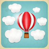 Vintage Balloon Retro card Royalty Free Stock Photos