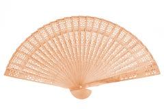 Vintage bamboo wooden folding fan Stock Photo
