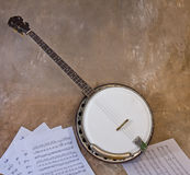 Vintage Banjo Royalty Free Stock Images