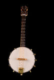 Vintage banjo Selective focus on strings. Royalty Free Stock Photo