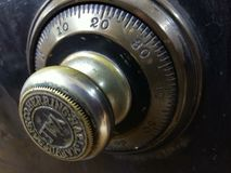 Vintage Bank Safe Combination dial royalty free stock images